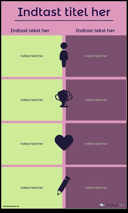 Sammenligning Infographic Skabelon