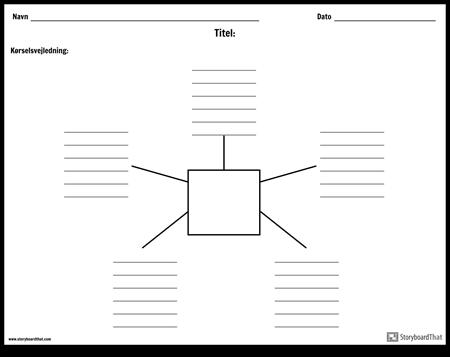 Spider kort med linjer - 5