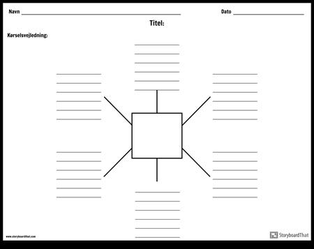 Spider-kort med linjer - 6