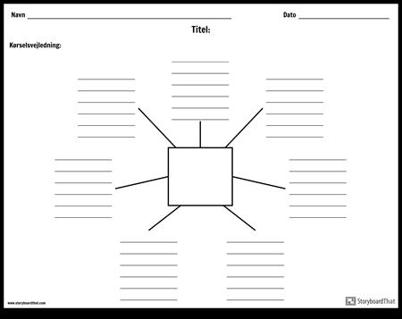 Spider-kort med linjer - 7
