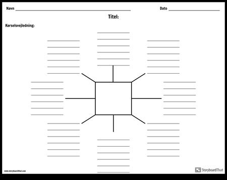 Spider kort med linjer - 8