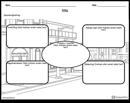 Story Map med baggrunds scene