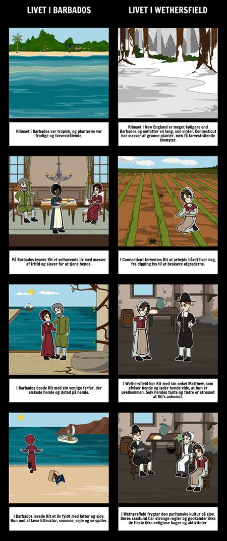 The Witch of Blackbird Pond Sammenlign og Kontrast
