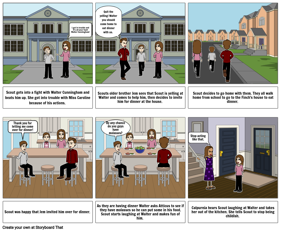 To Kill A Mockingbird Chapter 3 Storyboard