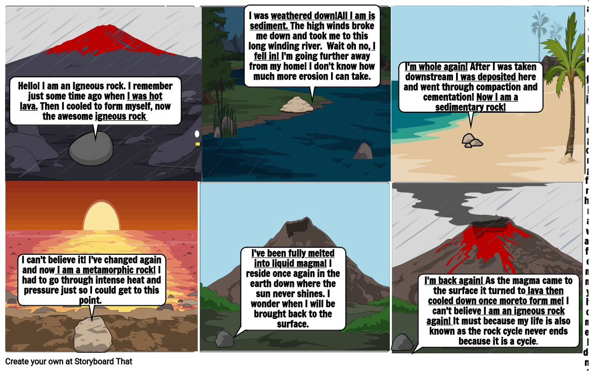2 nd story board rock cycle