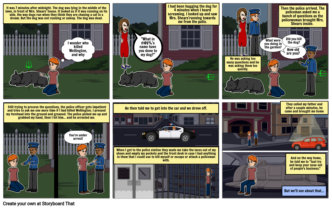 The Curious Incident of the Dog in the Night-Time - By Daniel and Jordan
