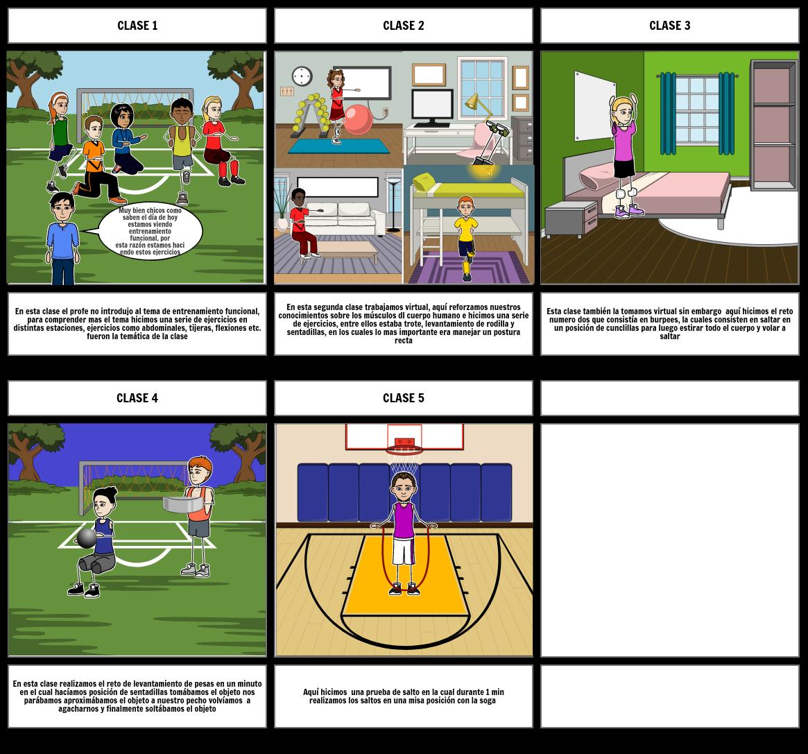 Historieta clase a clase educación física