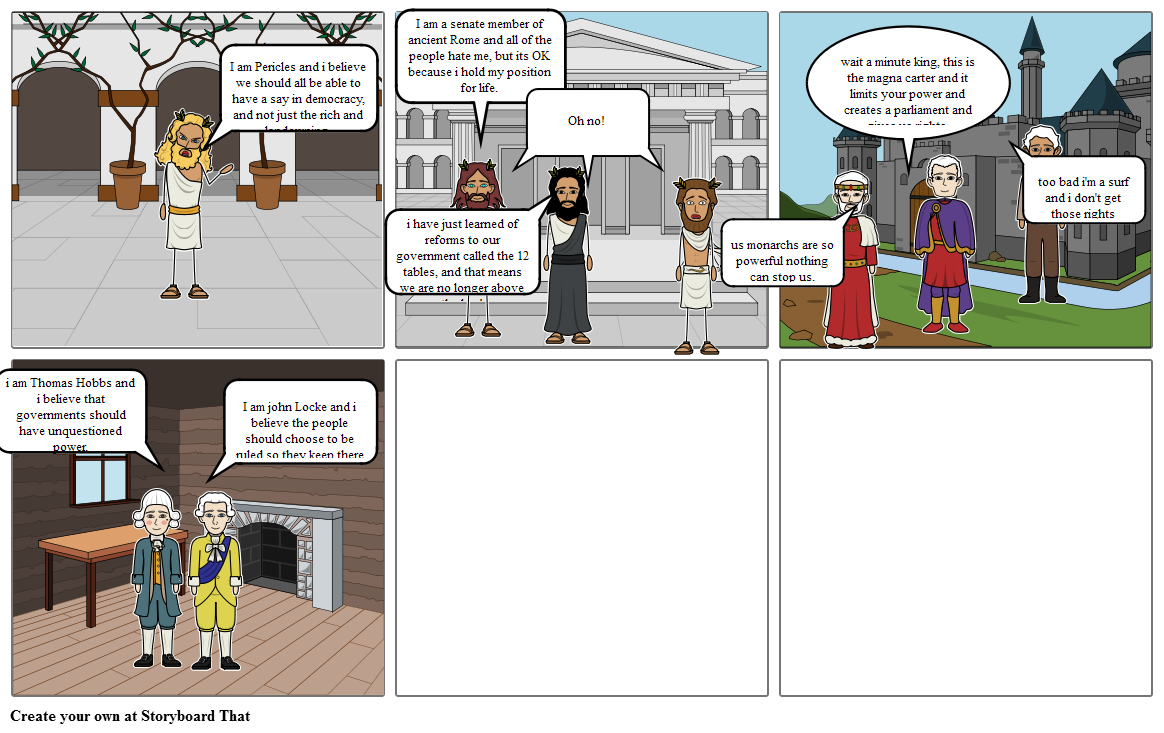 pericles story board