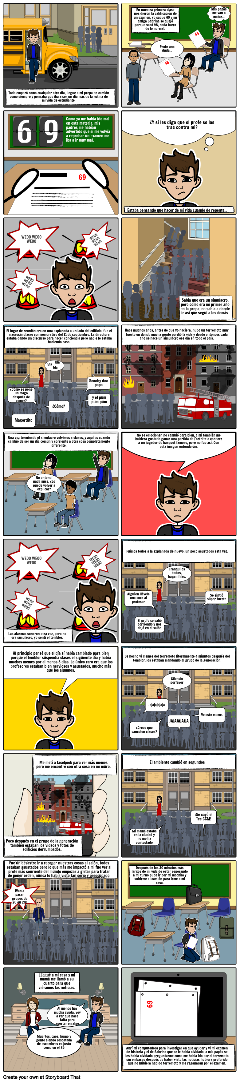 Comic terremoto