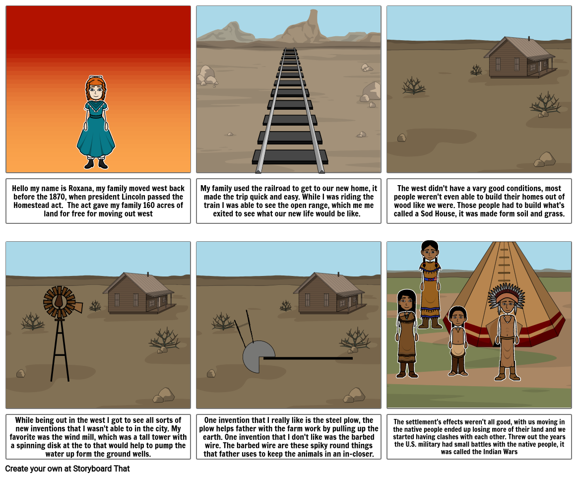 Settling the West Storyboard