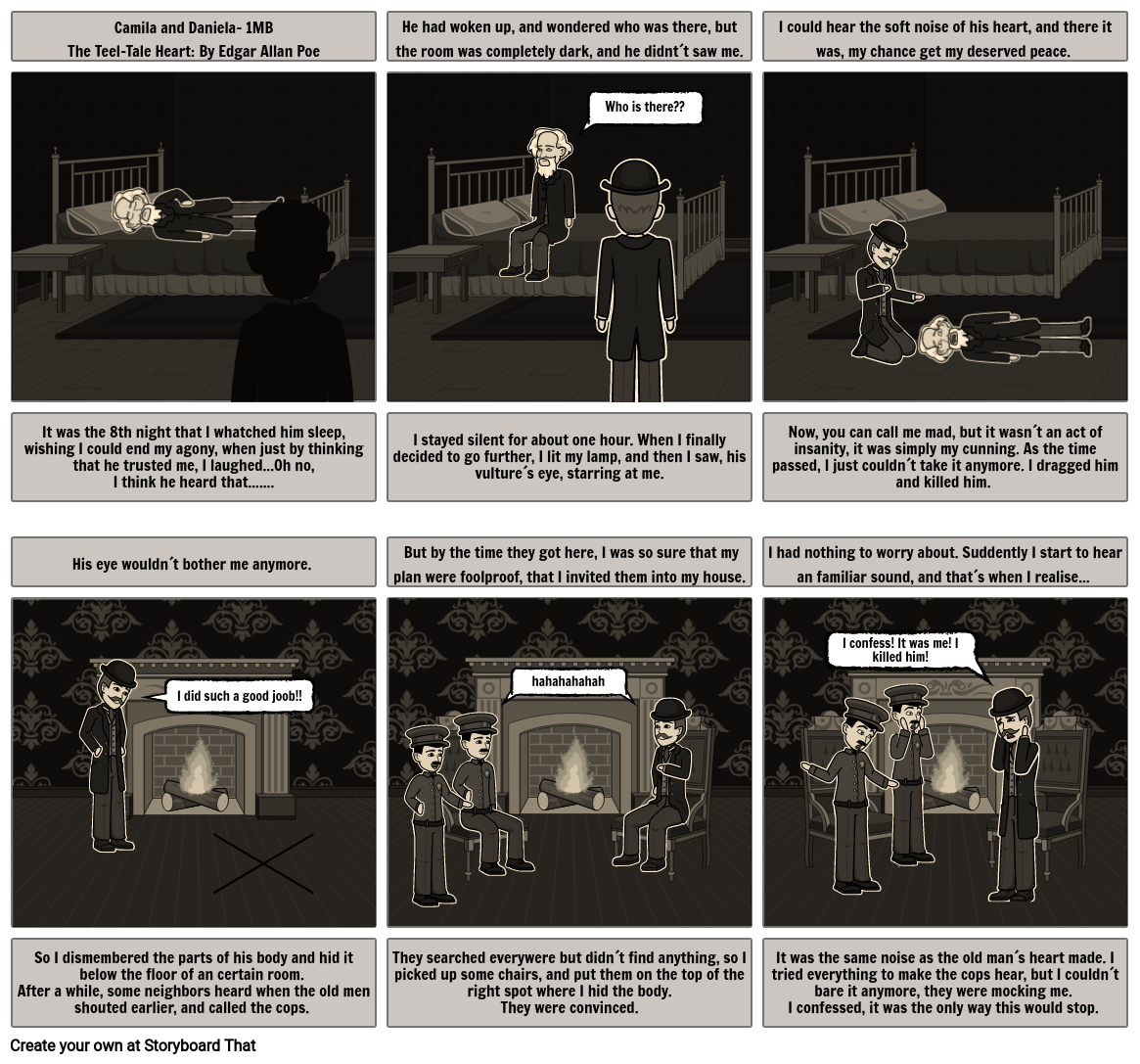 The tell- tale heart storyboard