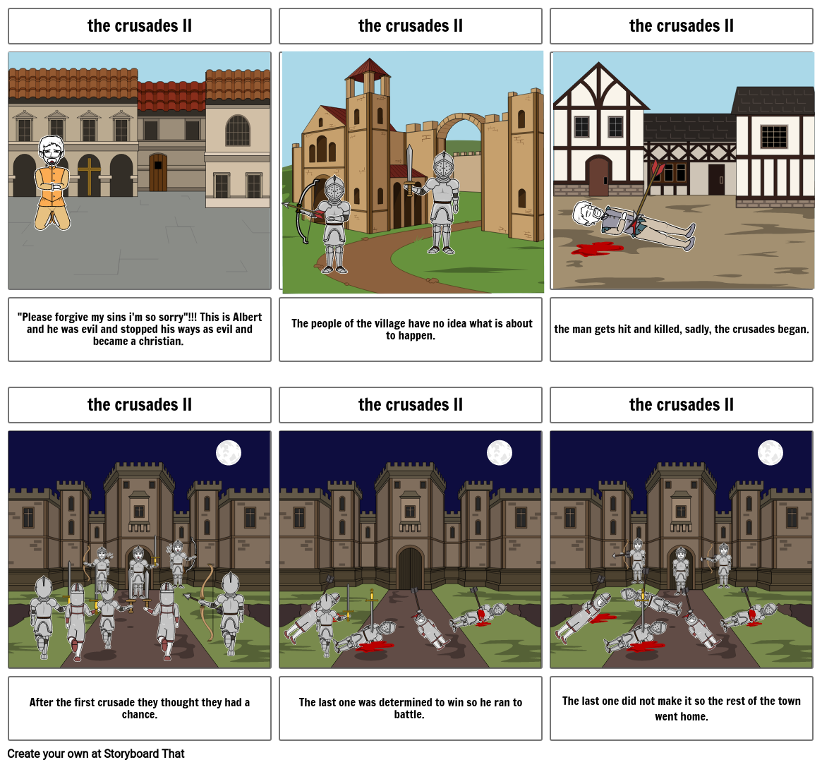 the crusades II by Ethan Dudla and Charles Evosevich