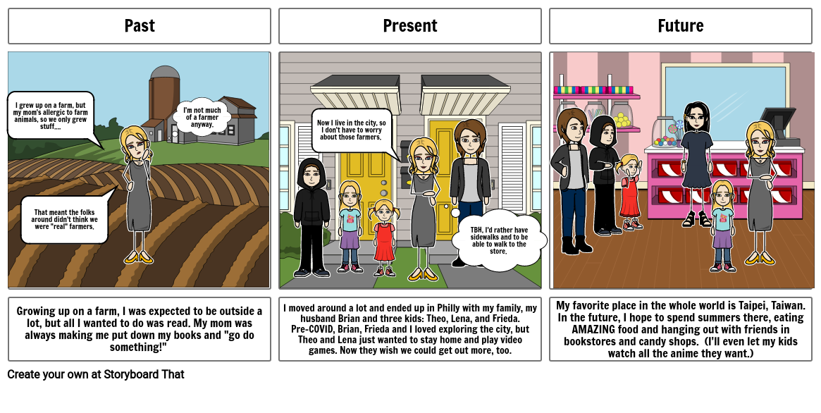 Ms. G's storyboard