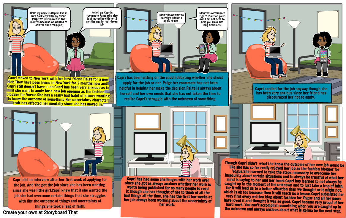 Module Four Lesson two storyboard