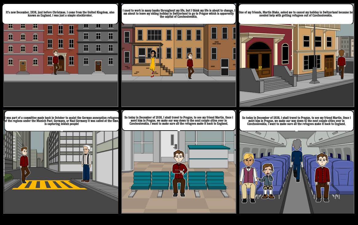Holocaust Hero Storyboard: Nicholas Winton