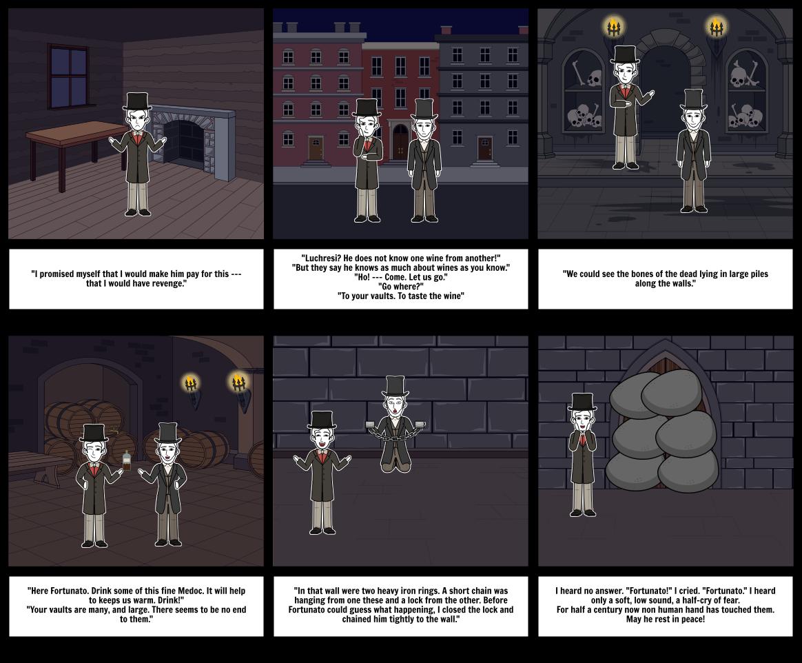 Cask of the Amontillado Storyboard