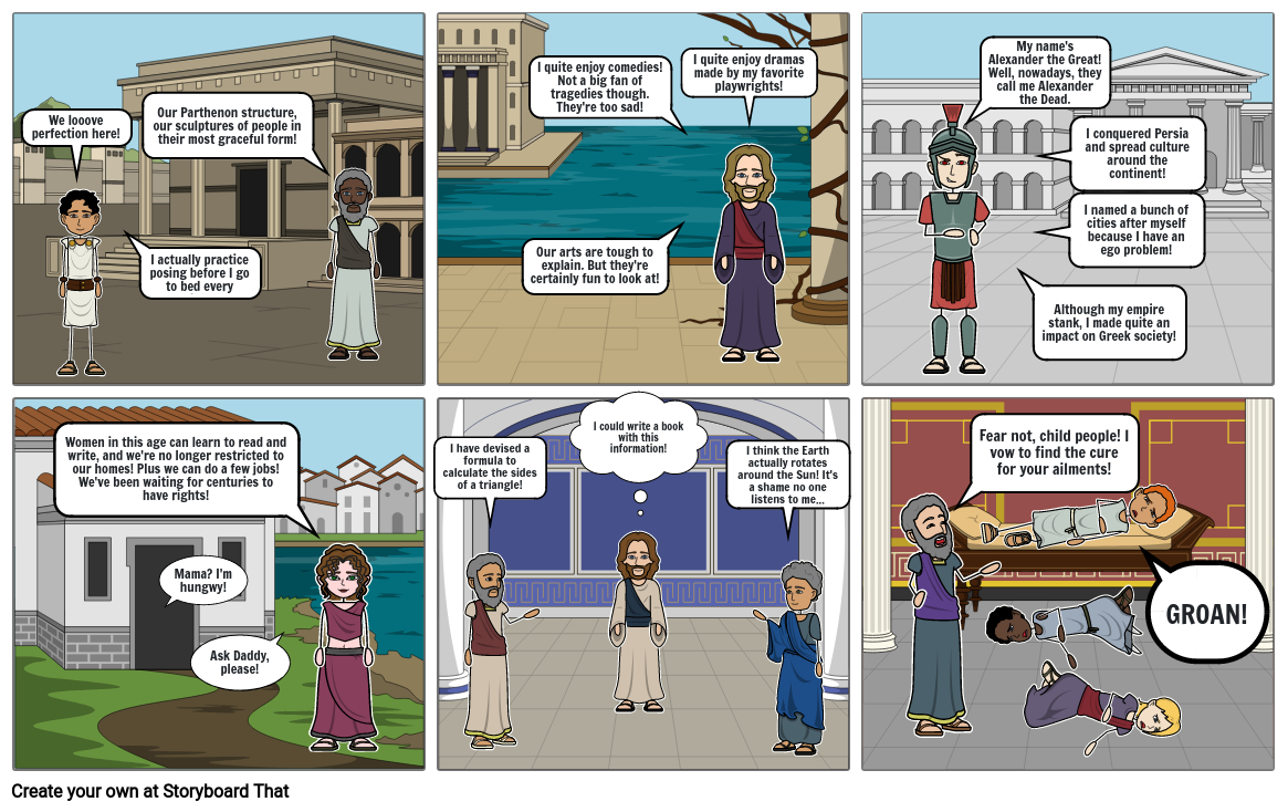 Achievements of the Hellenistic Age - Storyboard