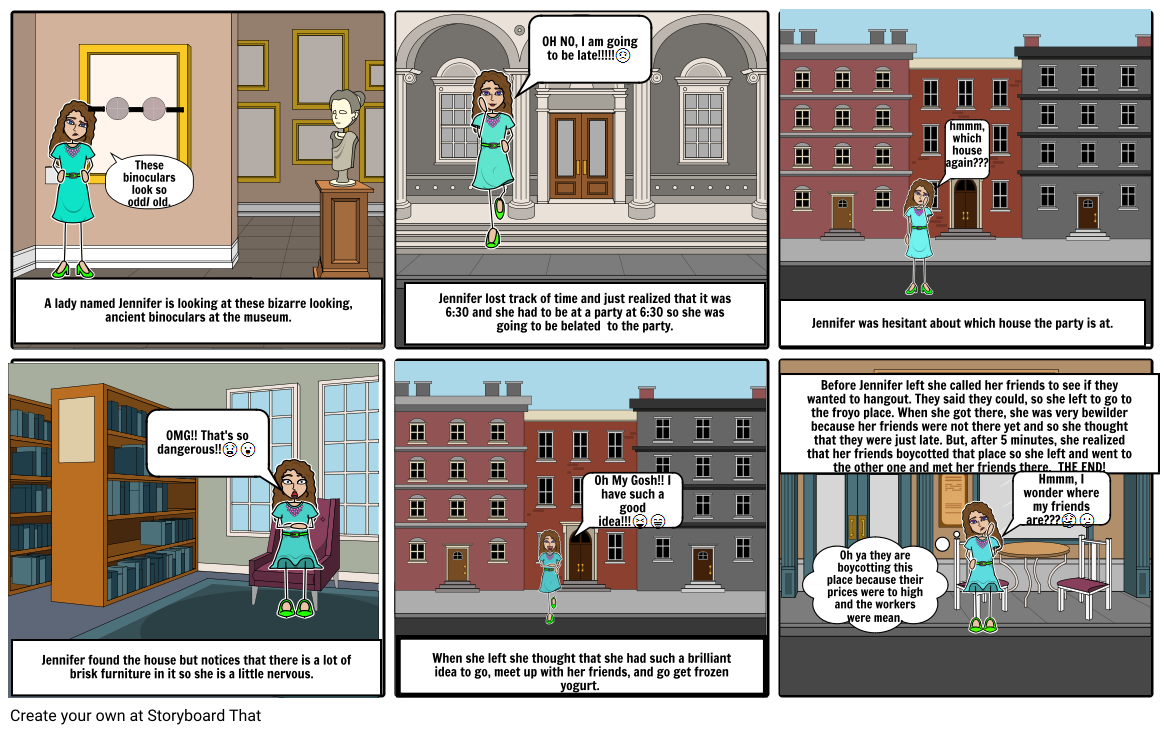 Jennifer's Crazy Day - A Vocab Story