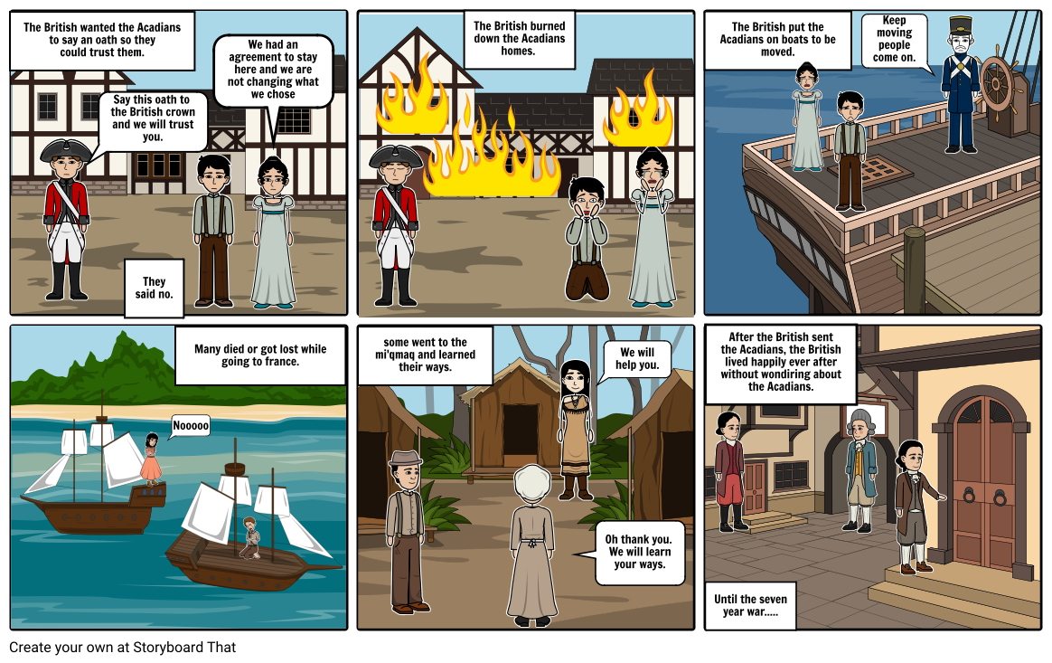 The Acadians Exile