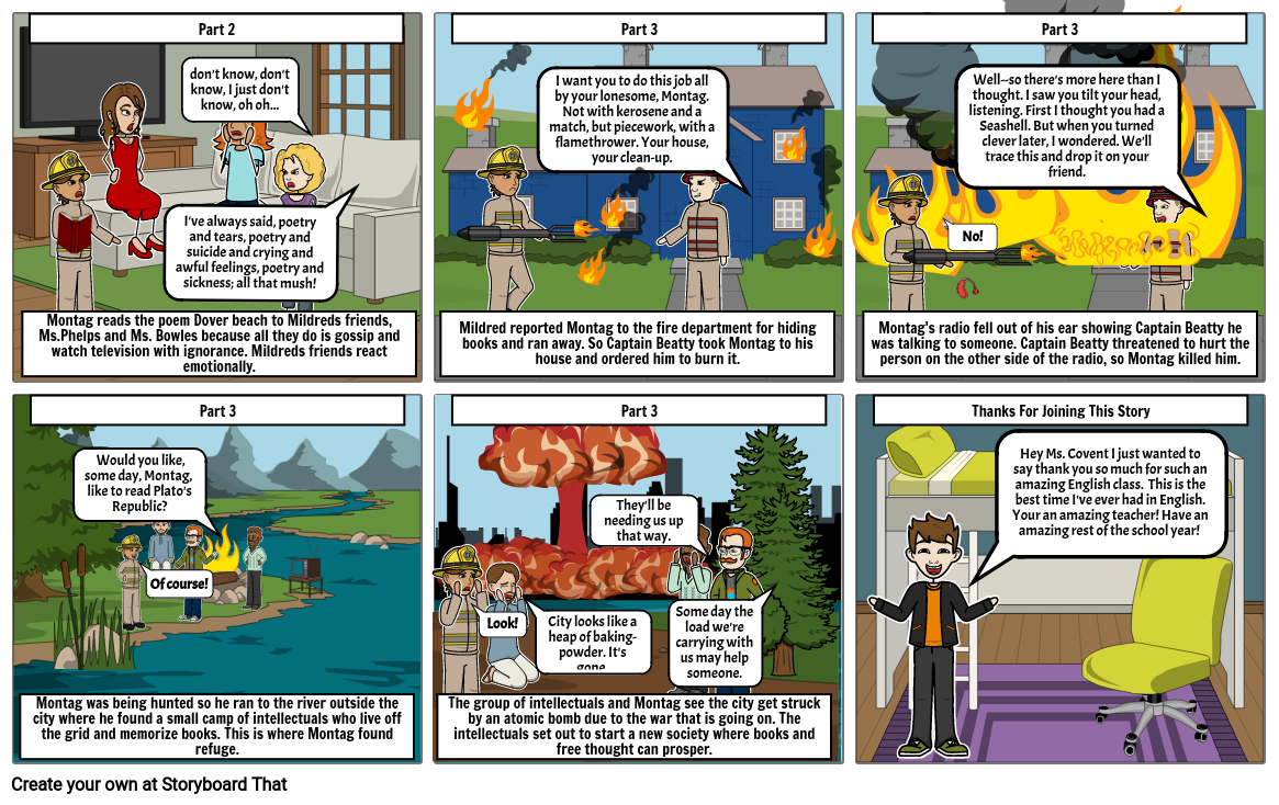 Fahrenheit 451 Story Board part 2