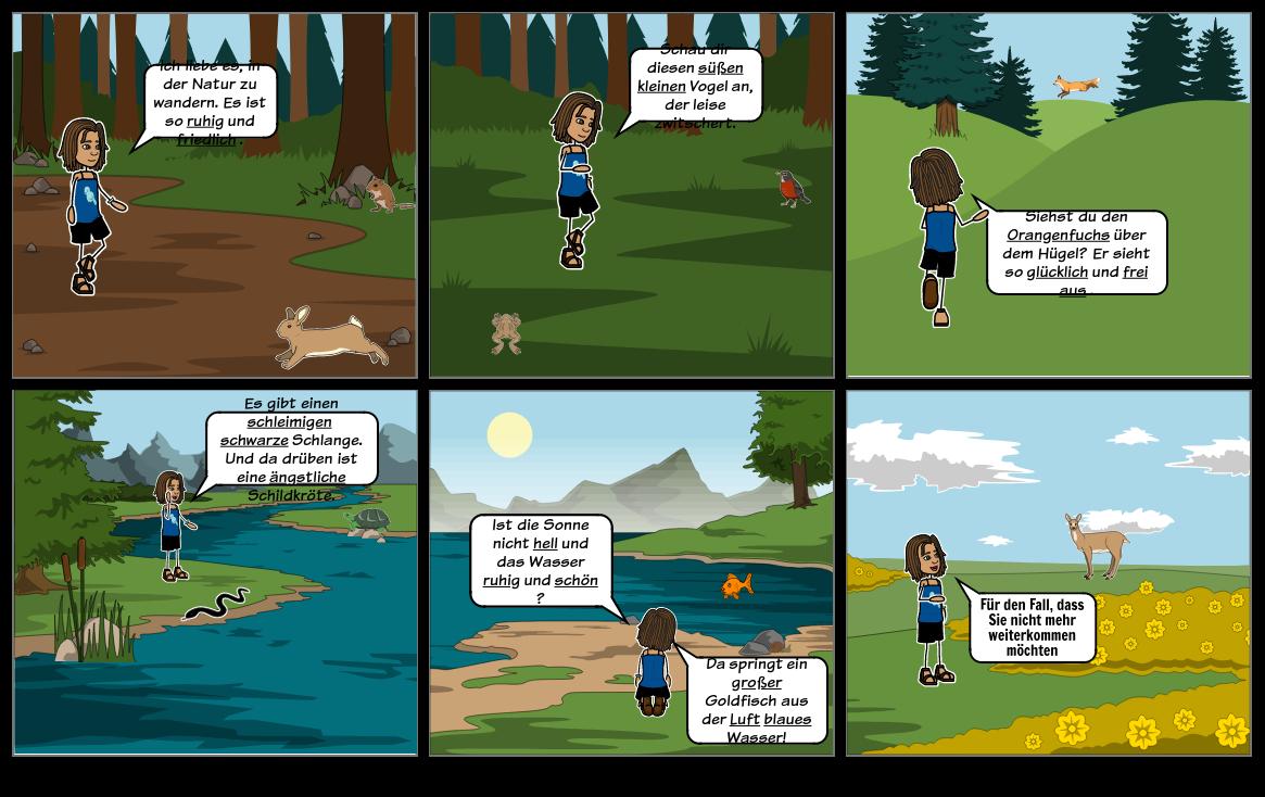 Adjektive: Adjektive Verwenden - Ein Spaziergang im Wald