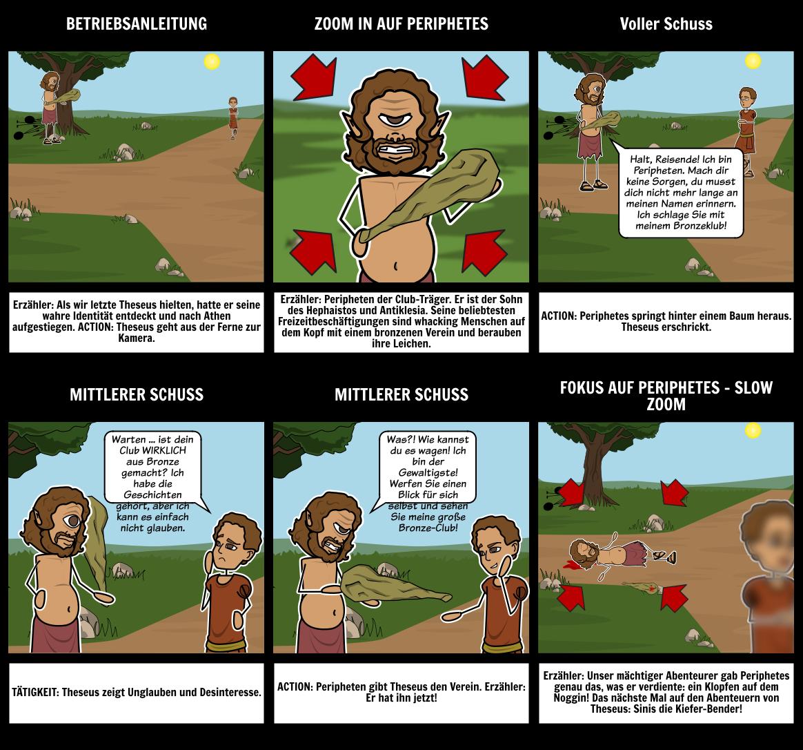 Theseus und der Minotaurus   Theseus Zusammenfassung Griechische ...