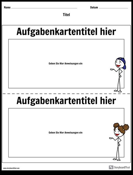 Aufgabenkartenvorlage   Aufgabenkarten-Maker   Storyboard That