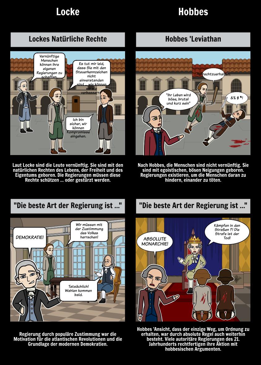 Aufklärung Wissenschaftliche Revolution - Locke vs Hobbes
