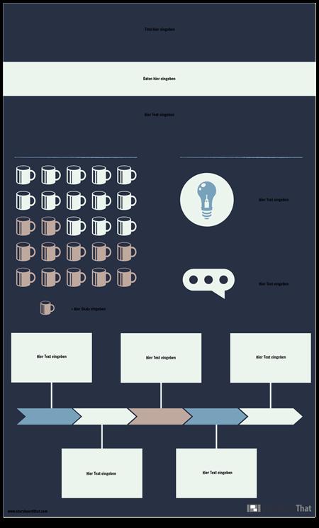 Biografische Daten Infografik