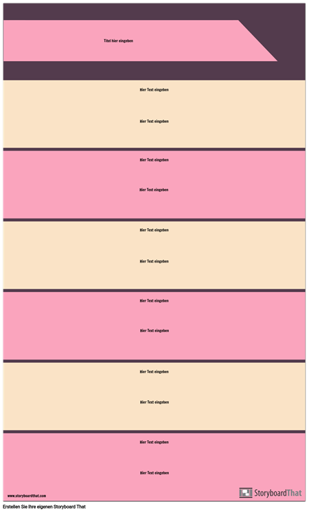 Block Abschnitte Infographik Vorlage