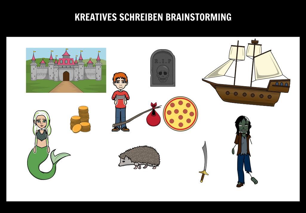 Die Schreibprozessschritte | Brainstorming-Schreibwerkstatt