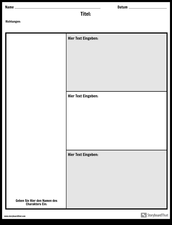 Character Chart - 3 Fragen