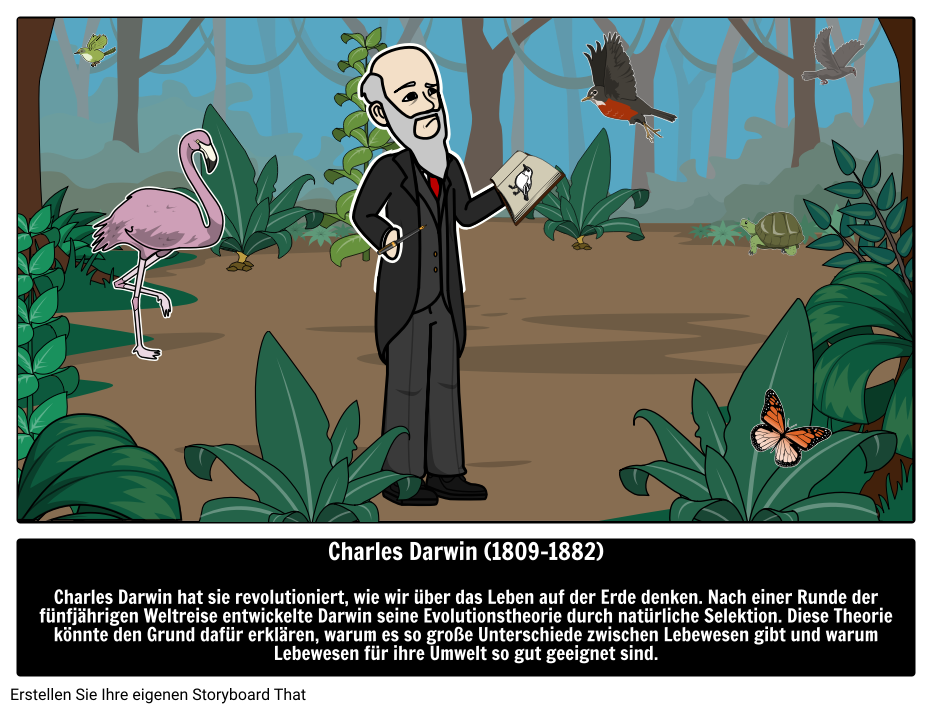 Charles Darwin Storyboard By De Examples