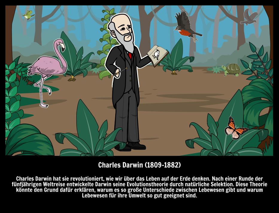 Charles Darwin Natürliche Auswahl und Evolution | Große Leute