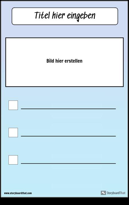 Checkliste mit Bild
