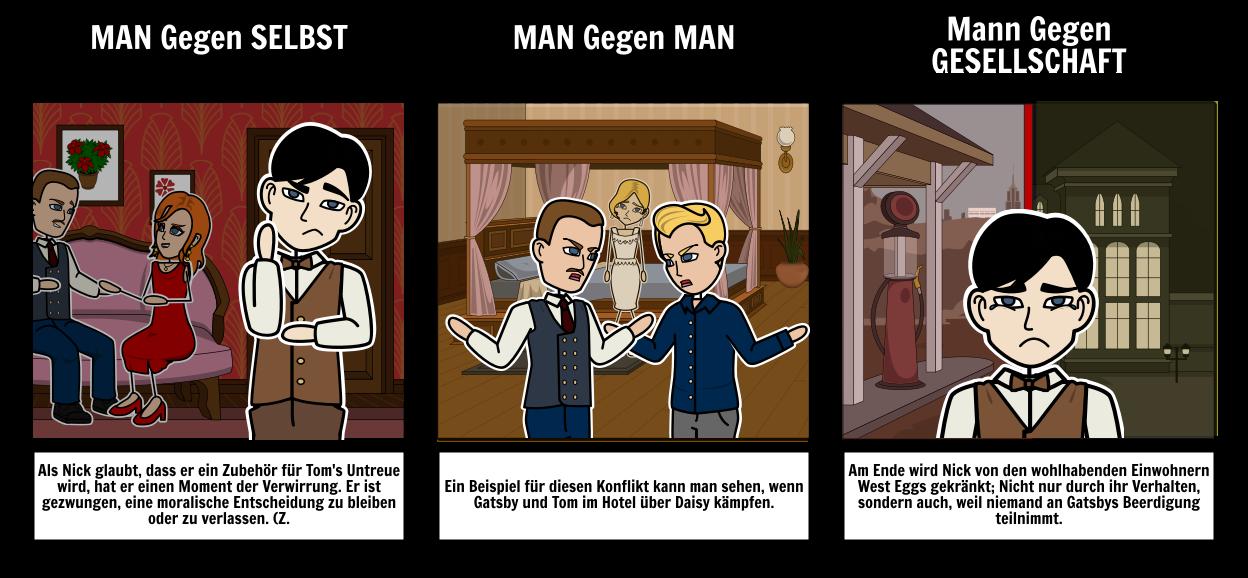 Der Große Gatsby - Konflikt