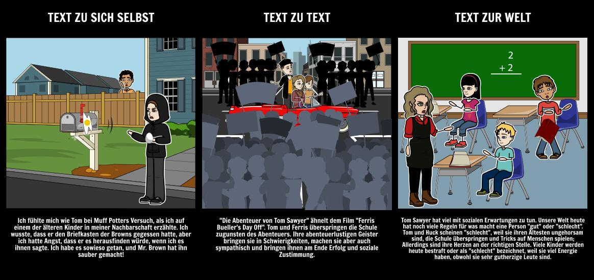 Die Abenteuer von Tom Sawyer Textverbindungen