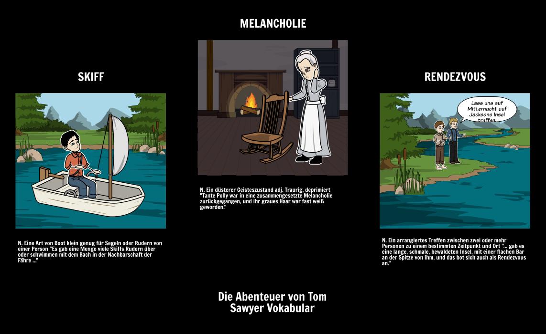 Die Abenteuer von Tom Sawyer Vokabular