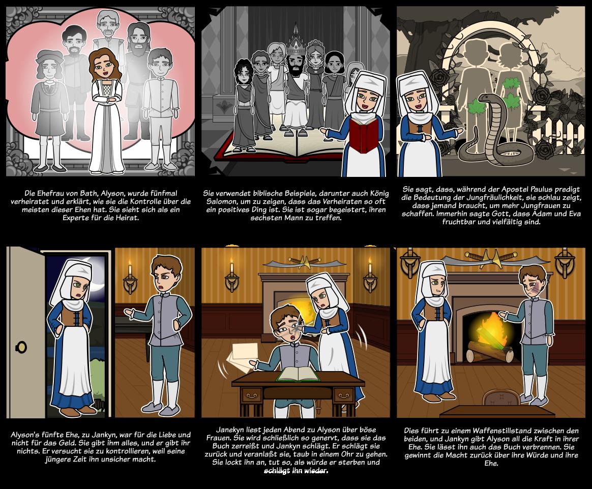 """Die Canterbury-Geschichten - Perspektive in """"Die Frau von Bath's Prolog"""""""