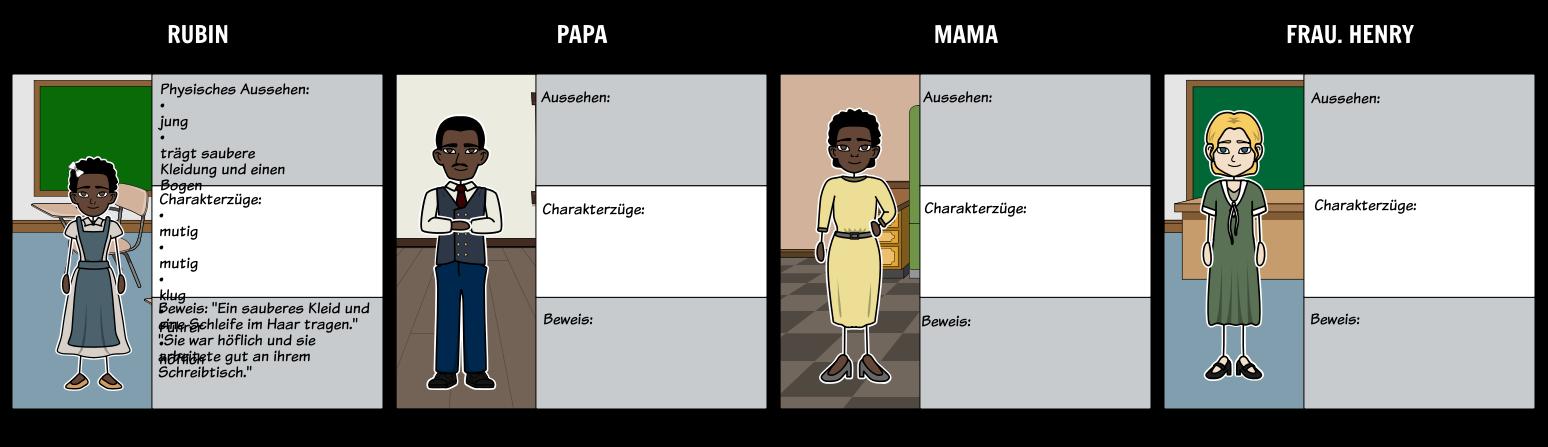 Die Geschichte der Ruby Bridges - Buchstaben Mini - Mappe