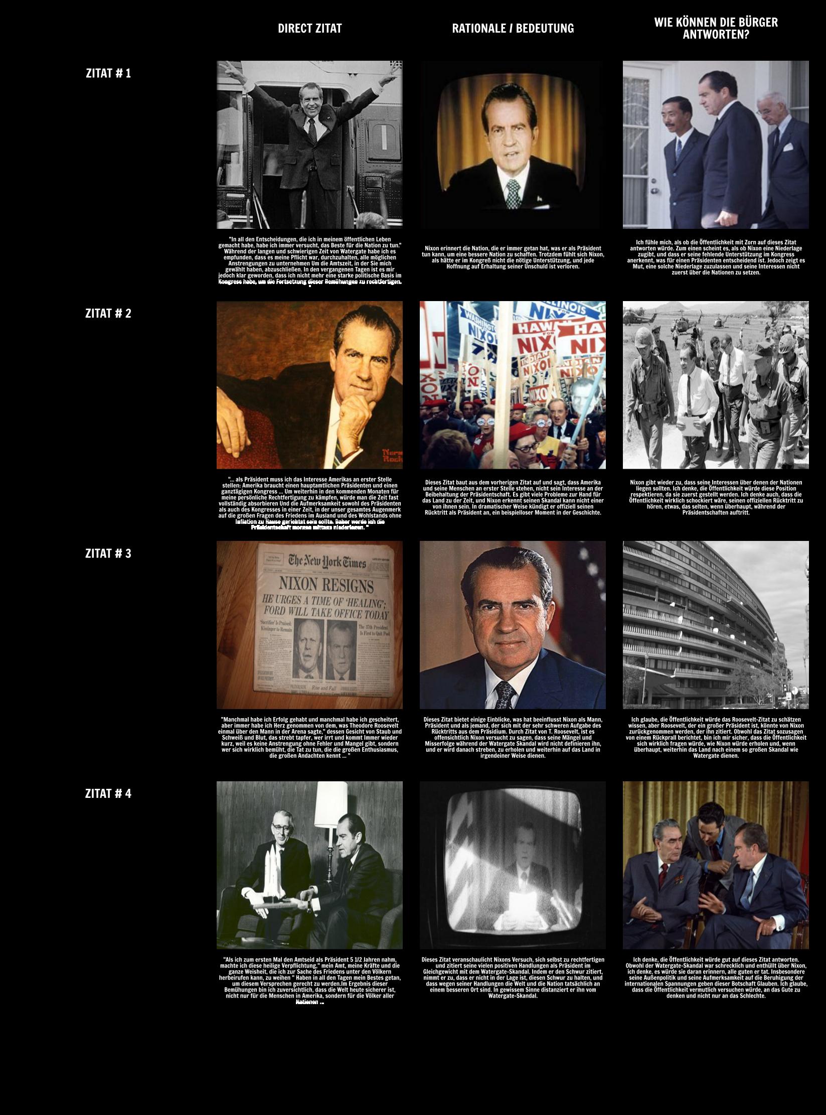 Die Präsidentschaft von Richard Nixon - Nixon Resignation Rede von 1974