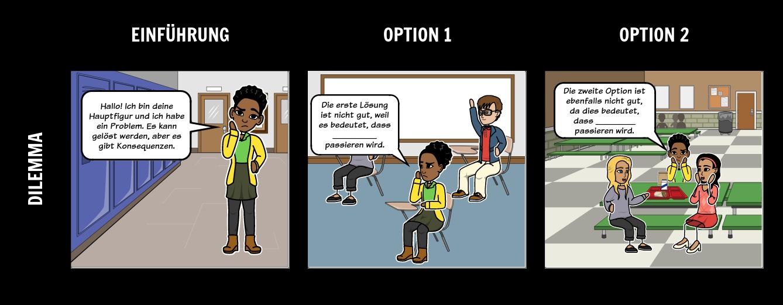Dilemma Beispiele Definitionsvorlage Storyboard