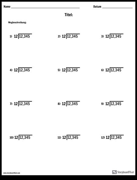 Division - Ort Wert