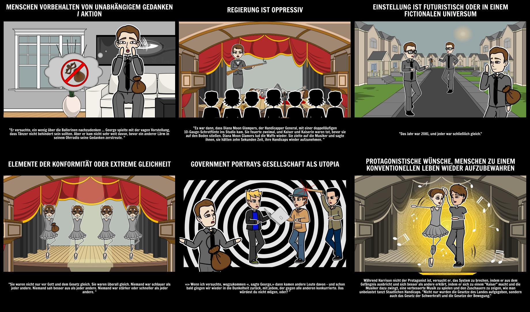 Dystopische Elemente in Harrison Bergeron