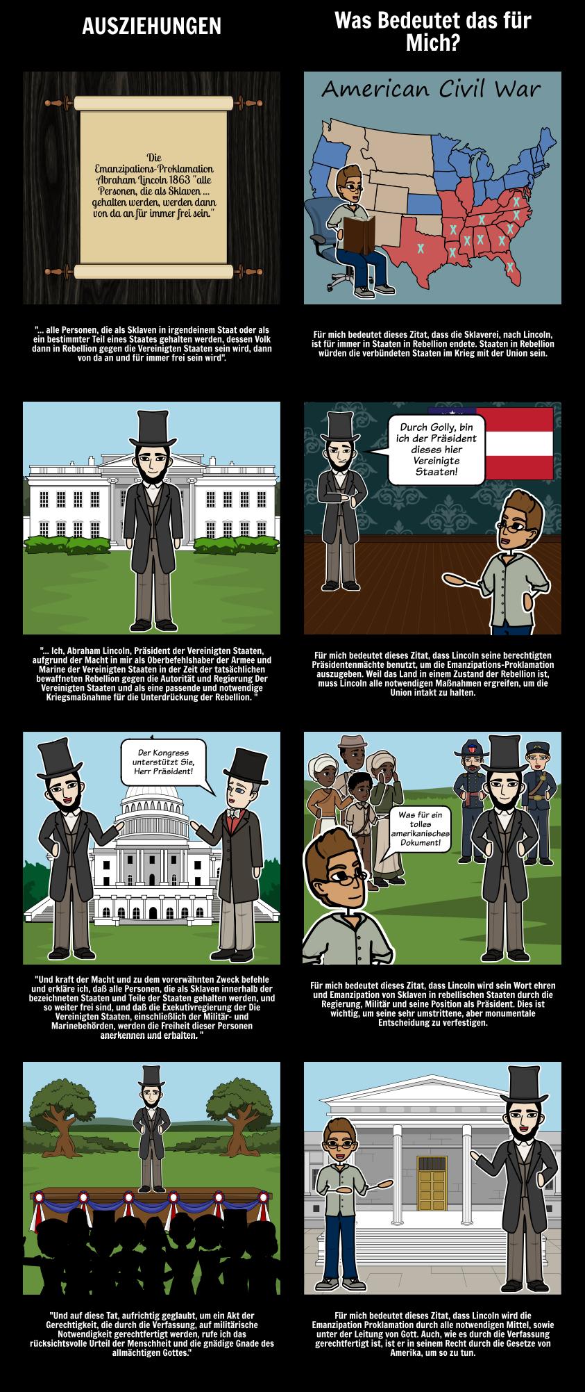 Lehre der Emanzipationsproklamation | Abraham Lincoln