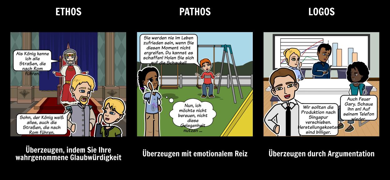 Ethos Pathos Logos Aktivitäten