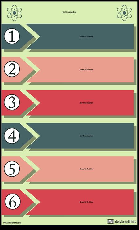 Experimentieren Sie Prozess Infografik