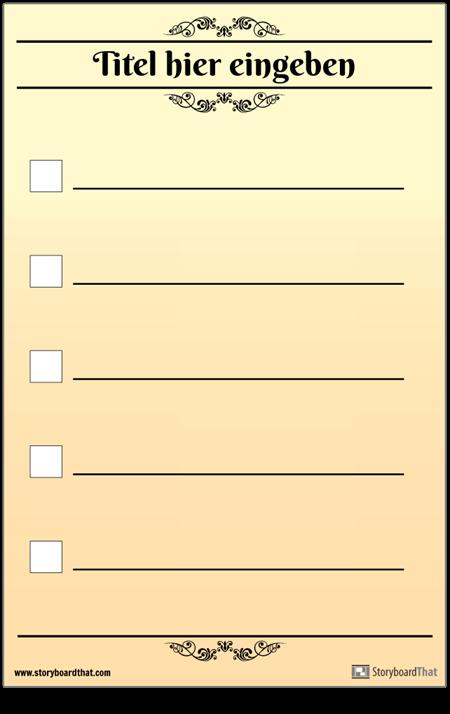 Grundlegende 5 Checkliste