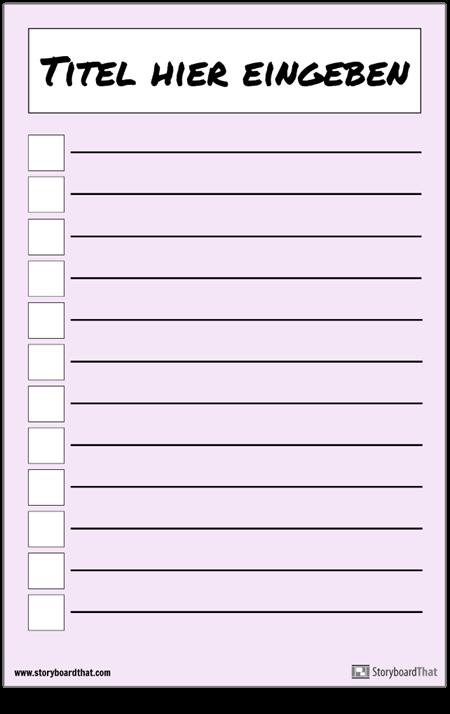 Grundlegende Checkliste Poster