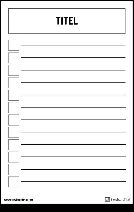 Grundlegendes Checklisten-Poster